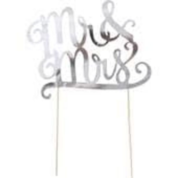 Silver Mr and Mrs Cake Topper offer at £1.75