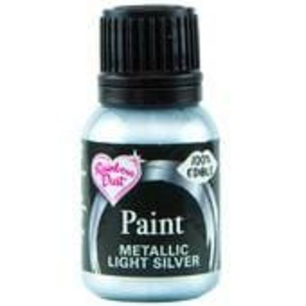 Rainbow Dust Silver Edible Metallic Food Paint 25ml offer at £4.6