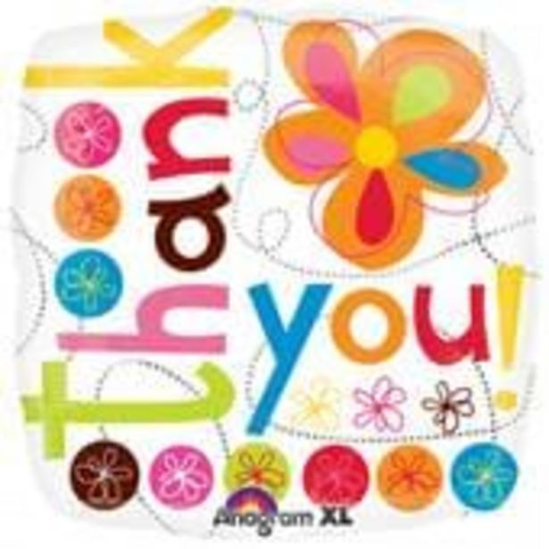 Large Thank You Flower Foil Balloon offer at £2
