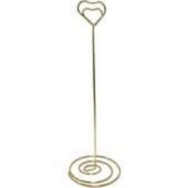 Gold Heart Table Number Stand offer at £2