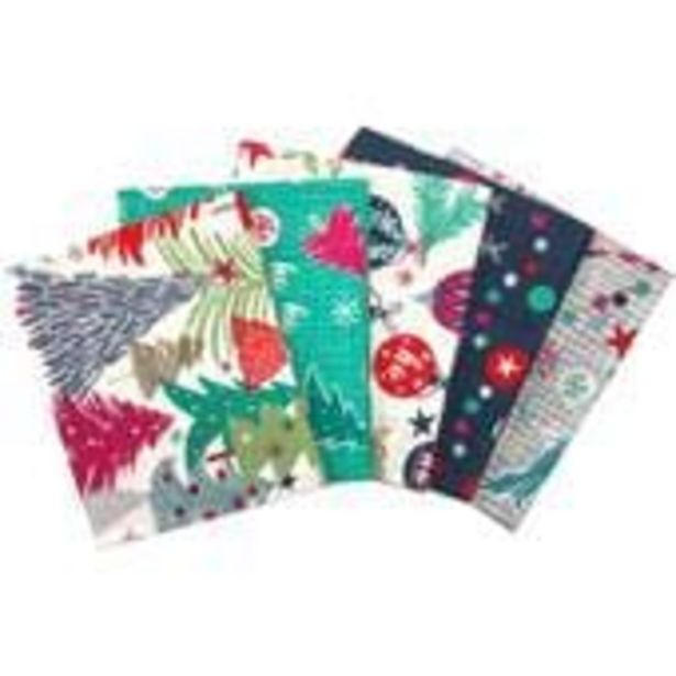 Colourful Christmas Cotton Fat Quarters 5 Pack offer at £7