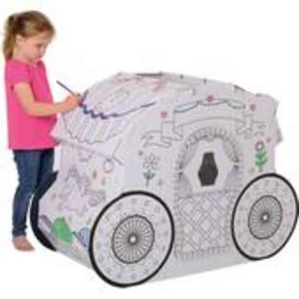Colour In Cardboard Princess Carriage 108cm offer at £12