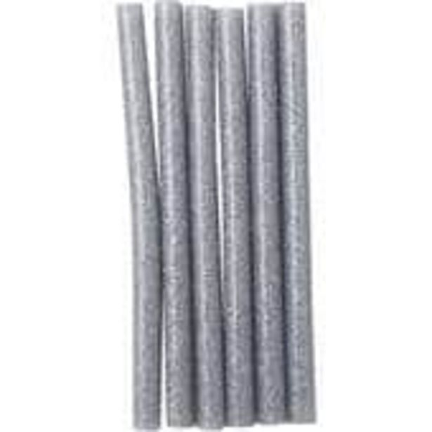 Silver Glitter Glue Sticks 7mm 6 Pack offer at £0.5
