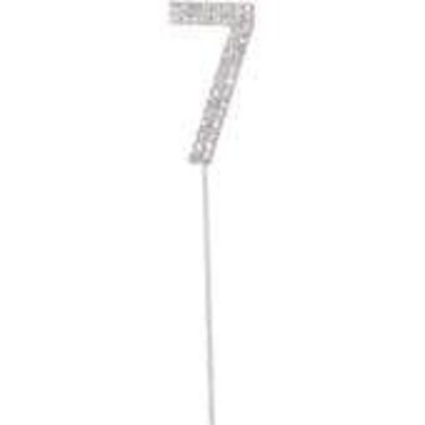 Silver Diamante Number 7 Cake Pick offer at £3