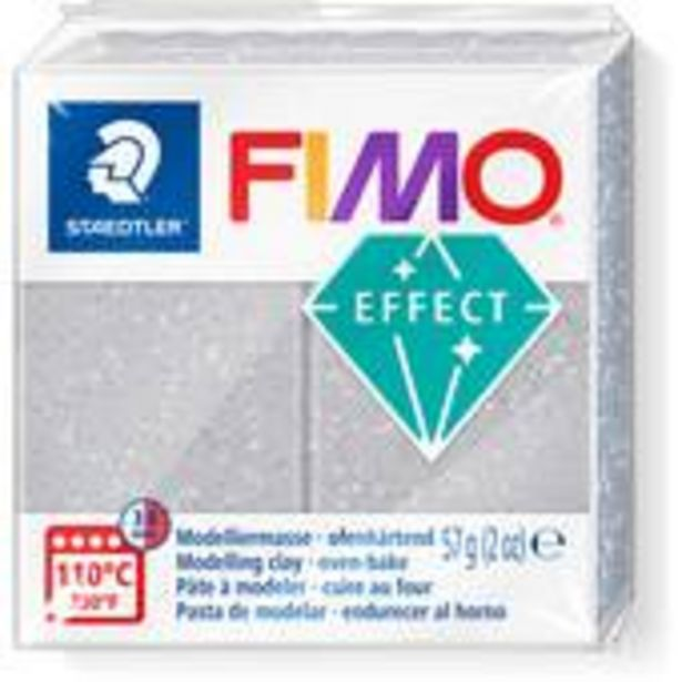 Fimo Effect Silver Glitter Modelling Clay 56g offer at £2.75