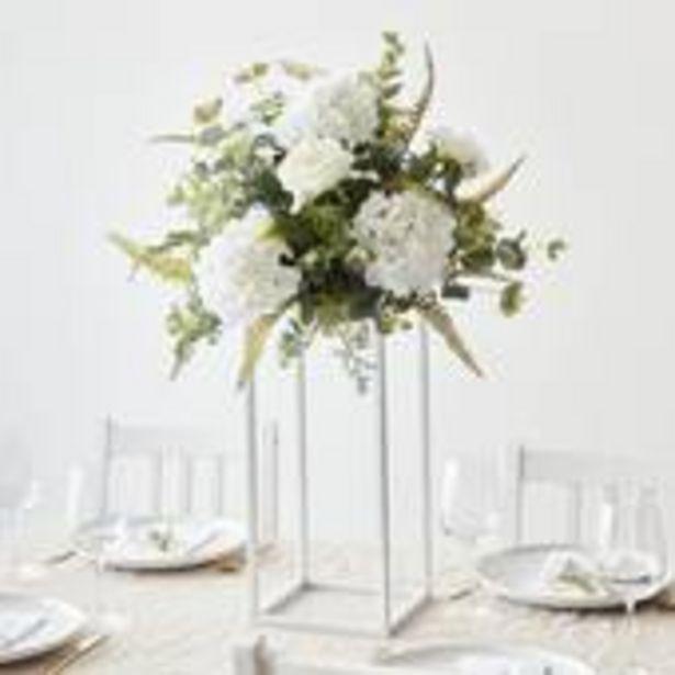White Flower Stand 43cm x 20cm offer at £17
