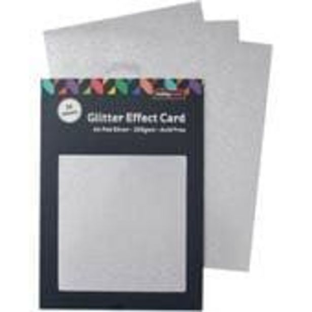 Silver Glitter Effect Card A4 16 Sheets offer at £4