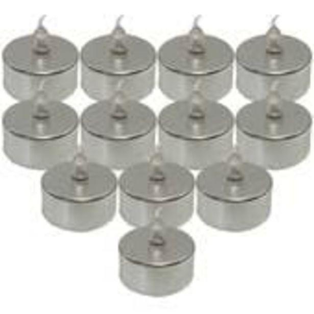 LED Silver Tea Lights 12 Pack offer at £6