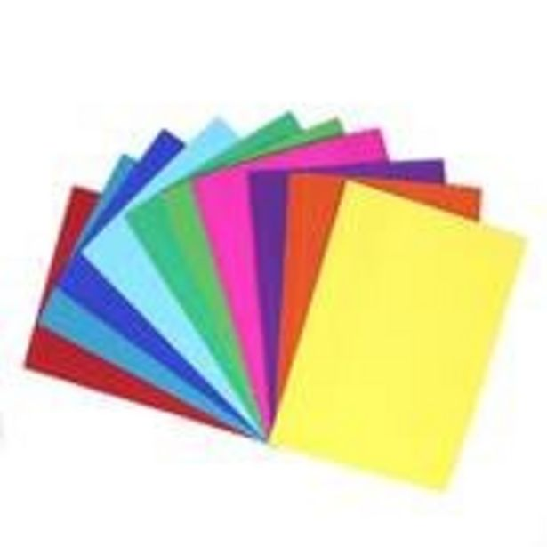 Corrugated Coloured Paper A4 10 Pack offer at £2
