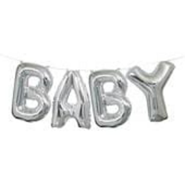 Silver Baby Balloon Banner offer at £4