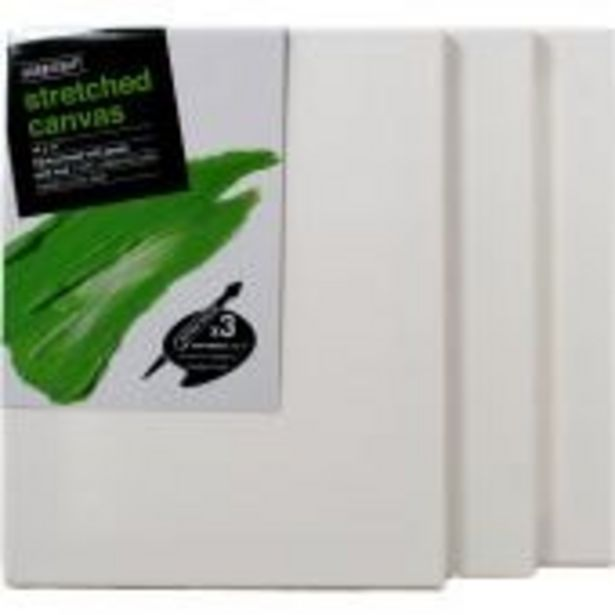 Stretched Canvas 35.6cm x 27.9cm 3 Pack offer at £11.5