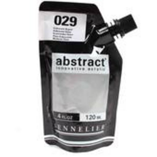 Sennelier Iridescent Silver Abstract Acrylic Paint Pouch 120ml offer at £2