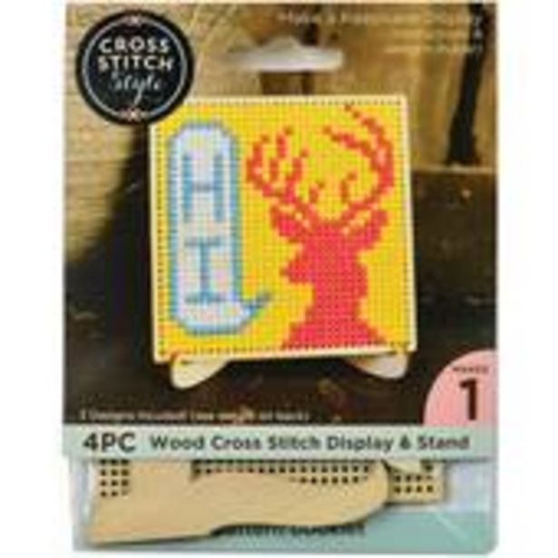 Square Wooden Cross Stitch Display and Stand 7.5cm offer at £1