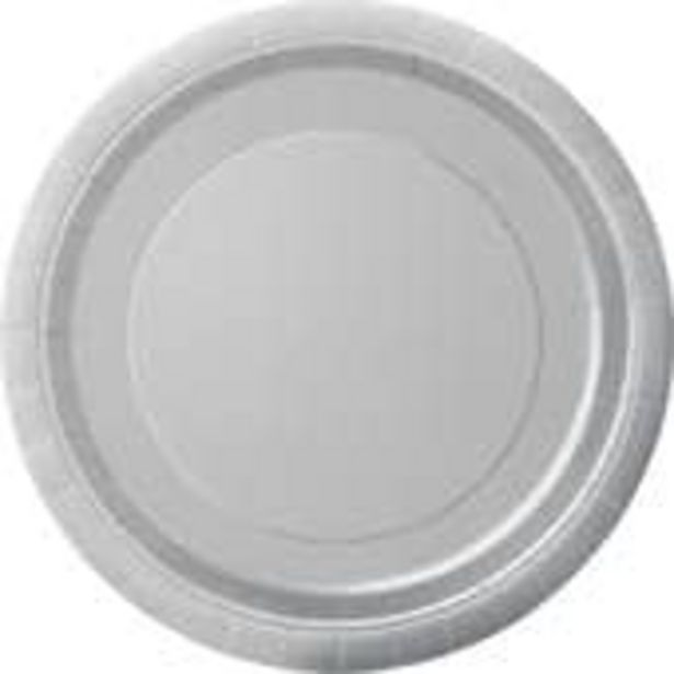 Silver Paper Plates 8 Pack offer at £1.5