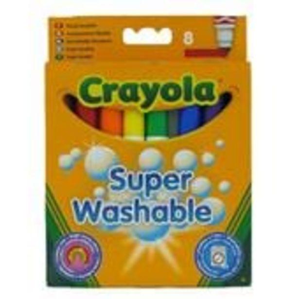 Crayola Super Washable Felt Tip Pens 8 Pack offer at £2.5