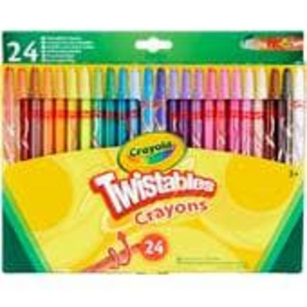 Crayola Twistable Crayons 24 Pack offer at £3.5