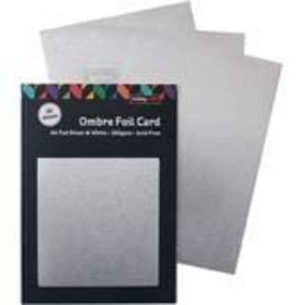 White and Silver Ombre Foil Card A4 16 Sheets offer at £4