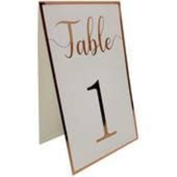 Rose Gold Border Table Numbers 12 Pack offer at £2