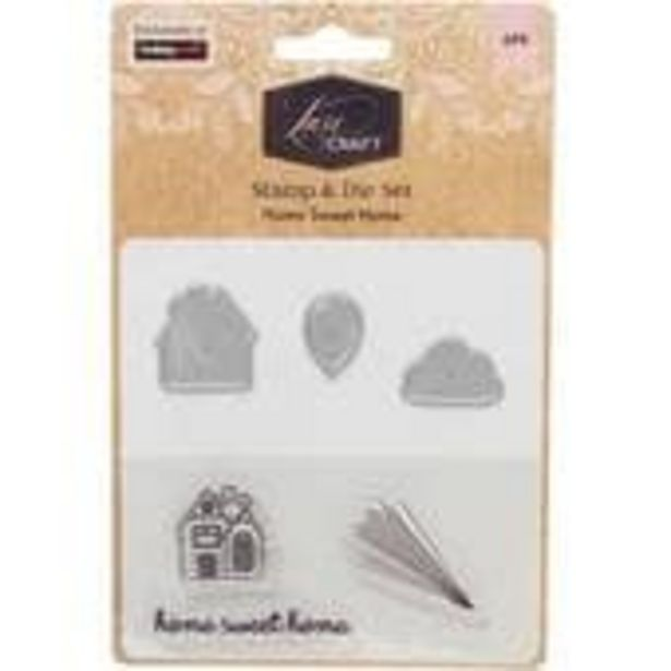 Luxe Home Sweet Home Layering Stamp and Die Set 6 Pieces offer at £3