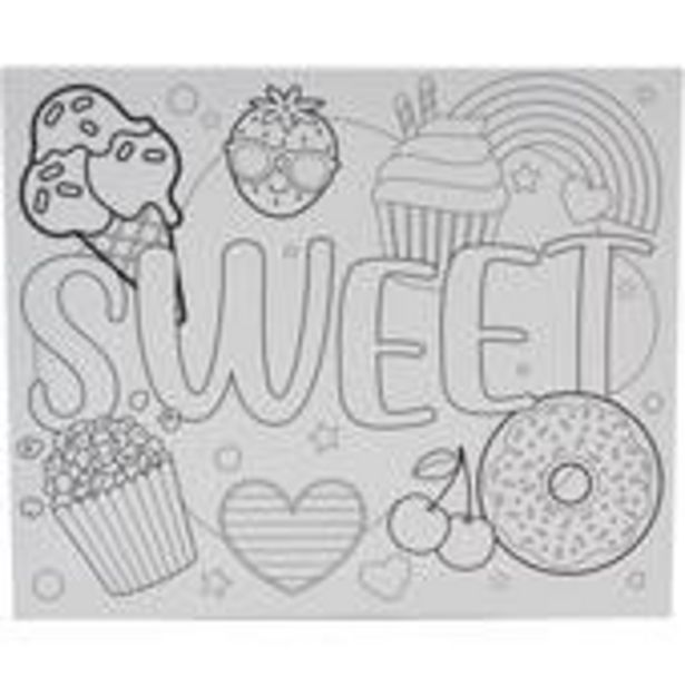 Sweet Colour-In Canvas offer at £4