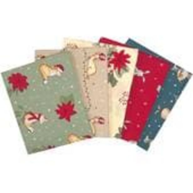 Christmas Critters  Cotton Fat Quarters 5 Pack offer at £7