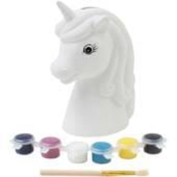 Paint Your Own Unicorn Head Money Box offer at £2