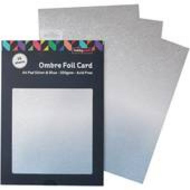 Blue and Silver Ombre Foil Card A4 16 Sheets offer at £4