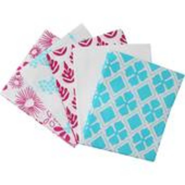 Flower Print Mix Cotton Fat Quarters 5 Pack offer at £5