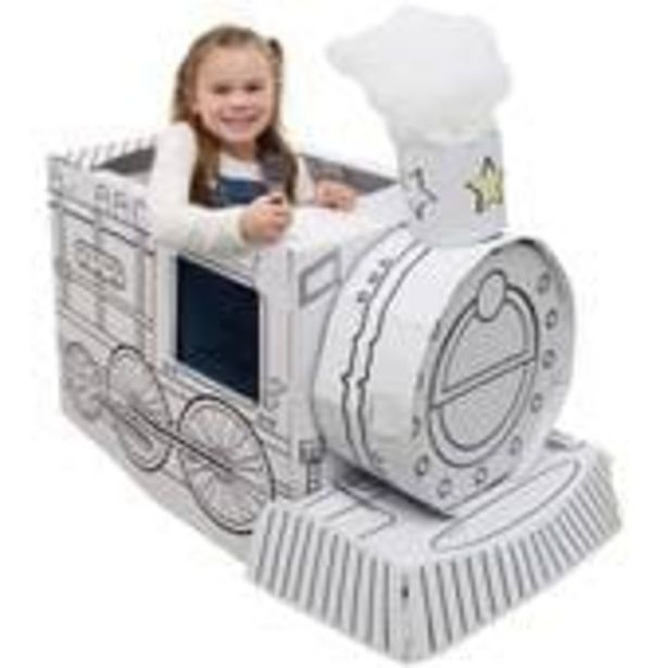 Colour In Cardboard Train 102cm offer at £12
