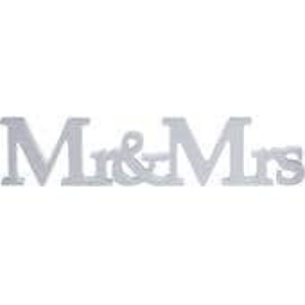 Vintage Affair Mr & Mrs Wooden Sign offer at £8