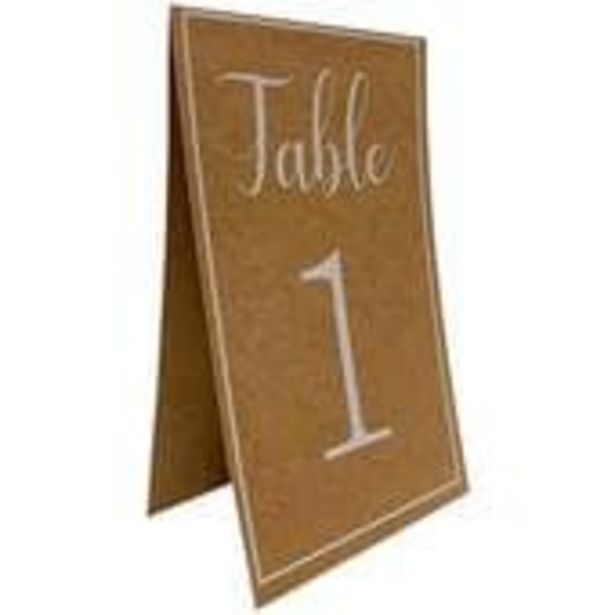Kraft Table Numbers 12 Pack offer at £2