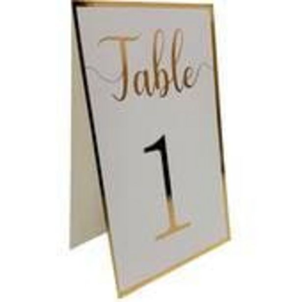 Gold Border Table Numbers 12 Pack offer at £2