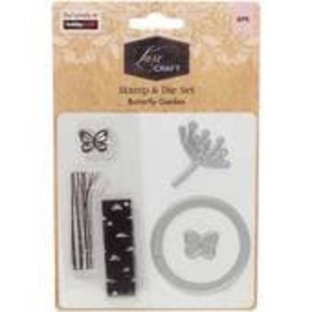 Luxe Butterfly Garden Layering Stamp and Die Set 6 Pieces offer at £3