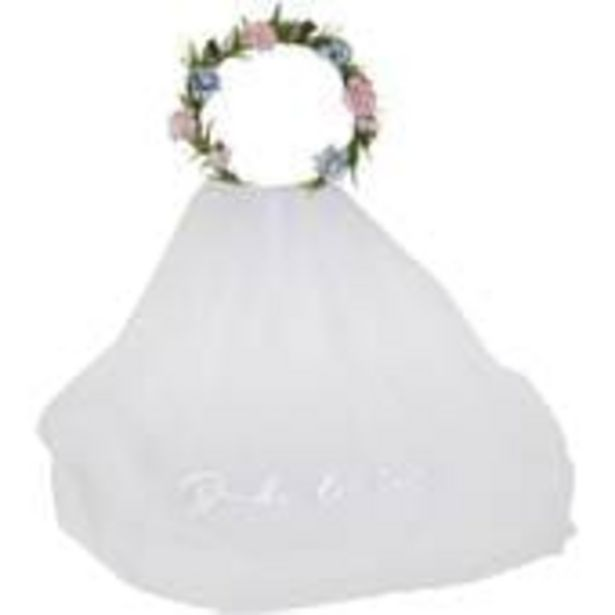 Ginger Ray Bride To Be Floral Crown and Veil offer at £13