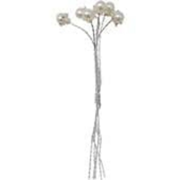 Pearl Bead Flowers 6 Pieces offer at £3