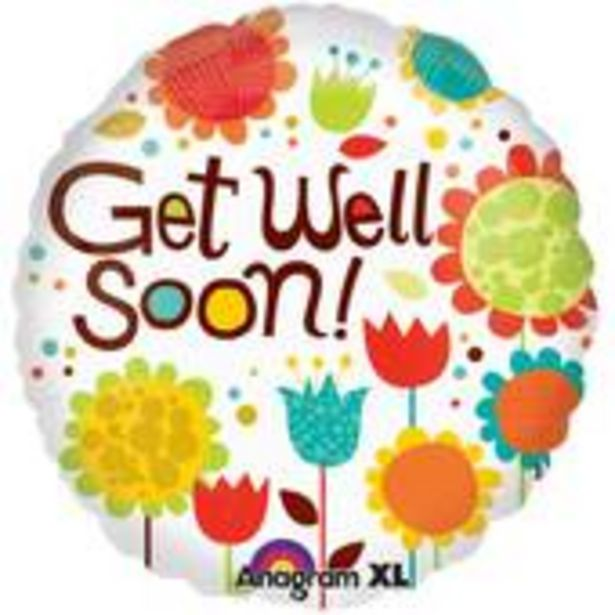 Large Get Well Soon Flower Foil Balloon offer at £2