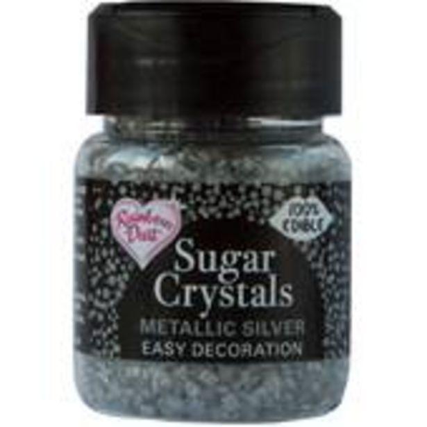 Rainbow Dust Metallic Silver Sugar Crystals 50g offer at £3