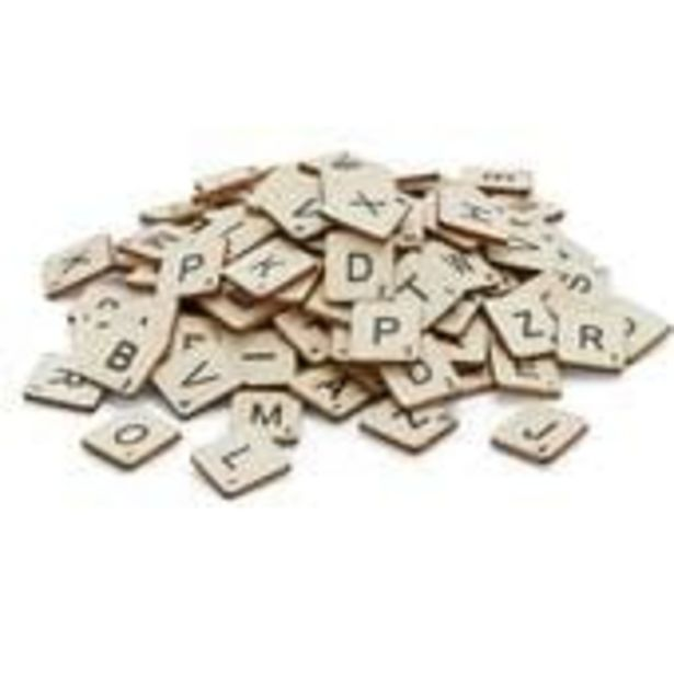 Wooden Letter Tiles 114 Pieces offer at £3