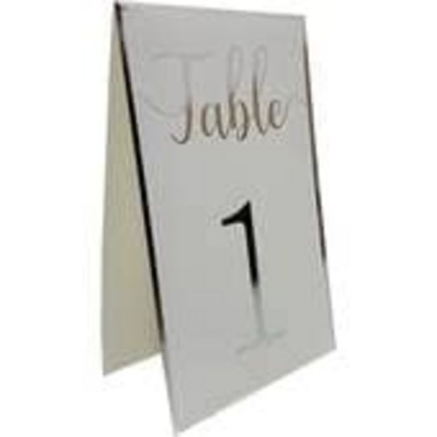 Silver Border Table Numbers 12 Pack offer at £2