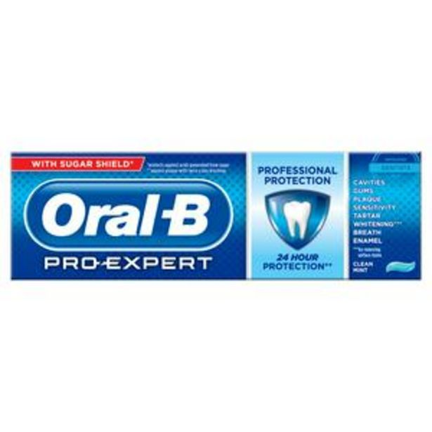 Oral-B Pro Expert Professional Protection Clean Mint Toothpaste 75ml offer at £3.5