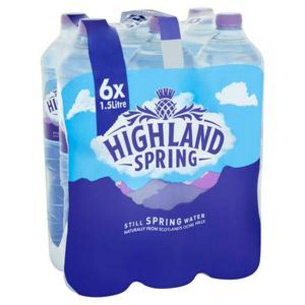 Highland Spring Still Water 6x1.5L offer at £3.25