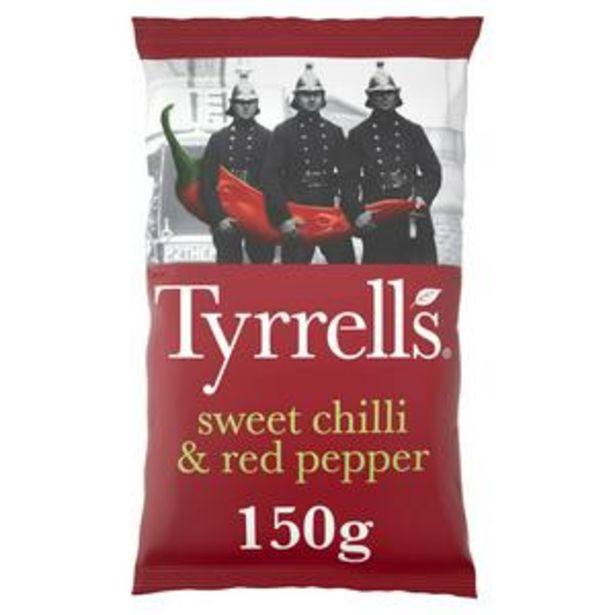 Tyrrells Sweet Chilli & Red Pepper Sharing Crisps 150g offer at £1.25