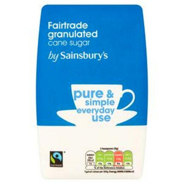 Sainsbury's Fairtrade White Granulated Sugar 1kg offer at £0.8