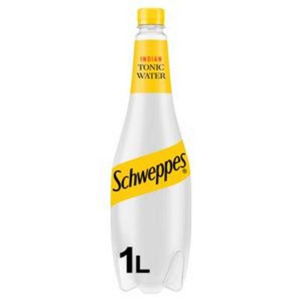 Schweppes Tonic Water 1L offer at £1.5