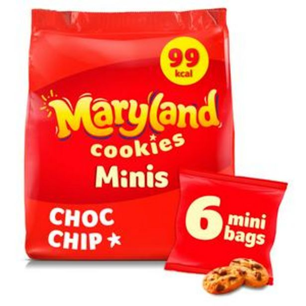 Maryland Minis Chocolate Chip Cookies x6 offer at £1