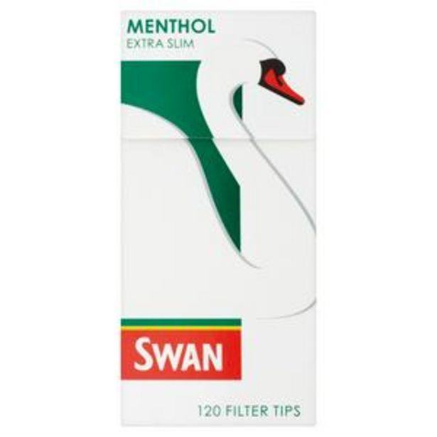 Swan Menthol Filter Tips Cigarettes, Extra Slim x120 offer at £1.3