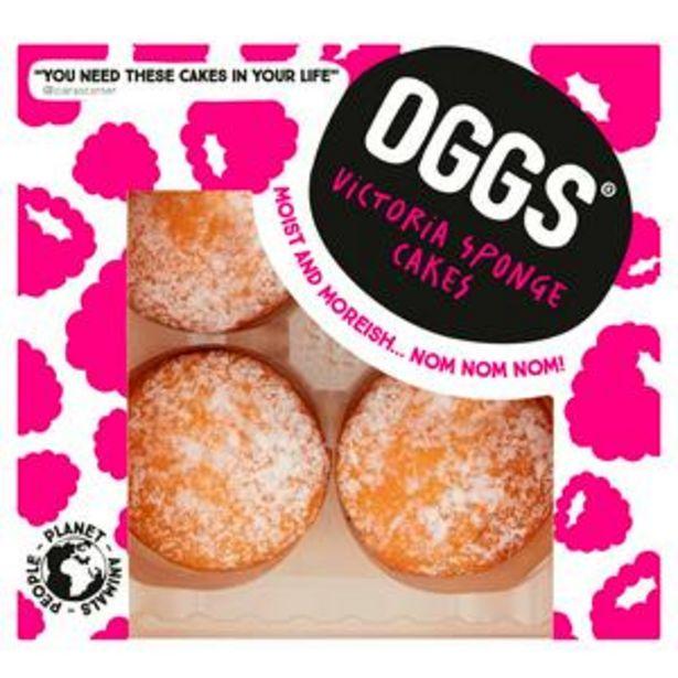 OGGS Vegan Victoria Sponge Cakes 184g offer at £3