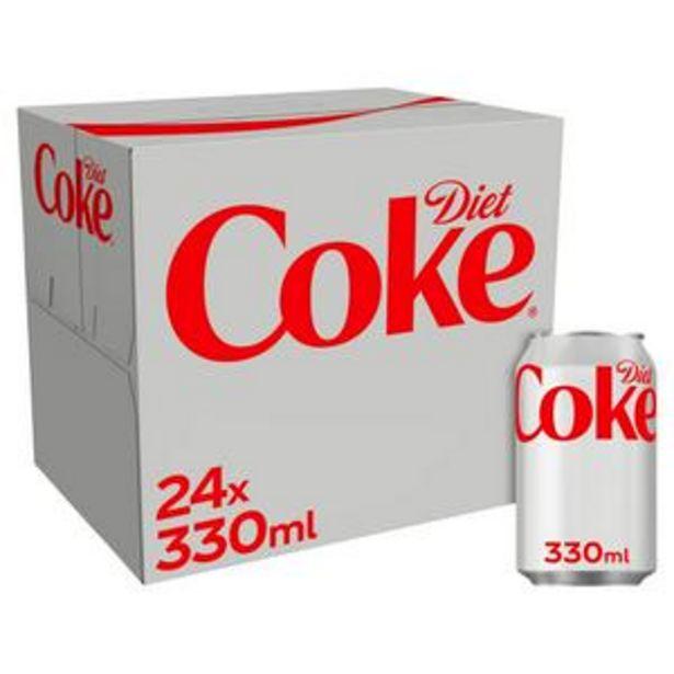 Diet Coke 24x330ml offer at £8.5