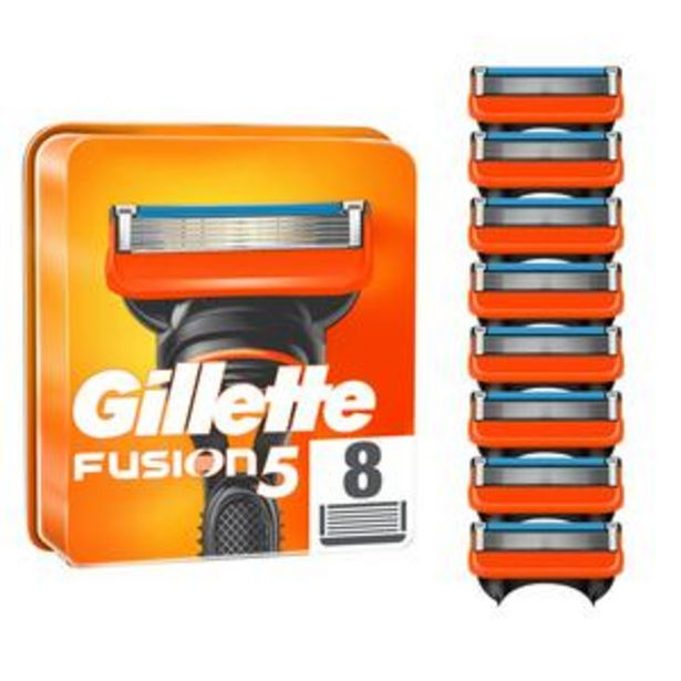 Gillette Fusion Razor Blades x8 offer at £16.25