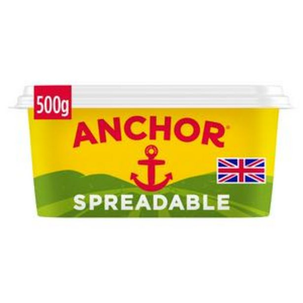 Anchor Salted Spreadable 500g offer at £2.5
